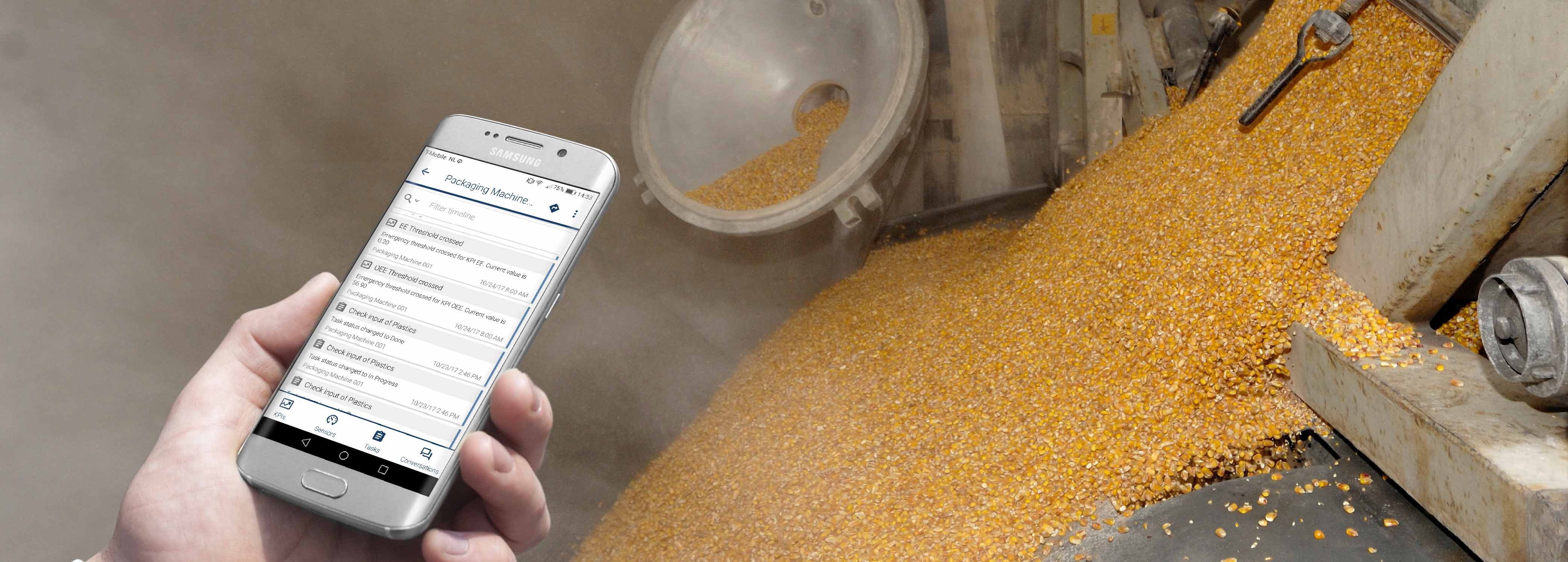 innius used on Android device in Feed factory