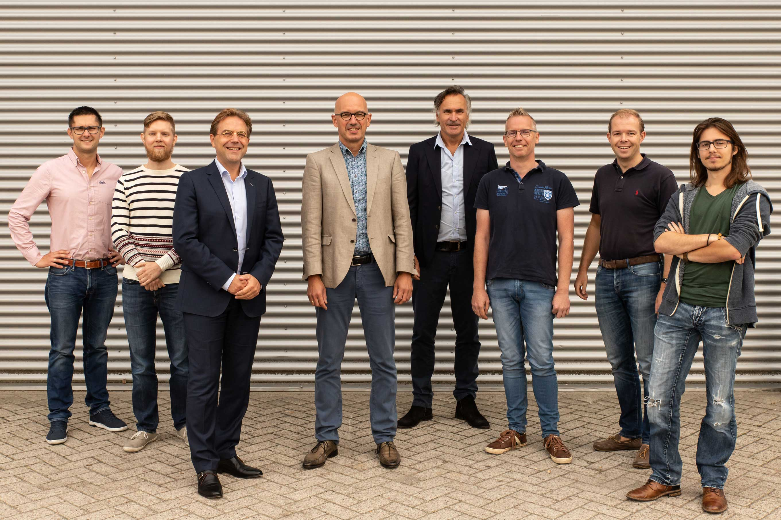 The innius team, Richard, Mark, John, Rine, Erik, Ron, Koos, Wolf