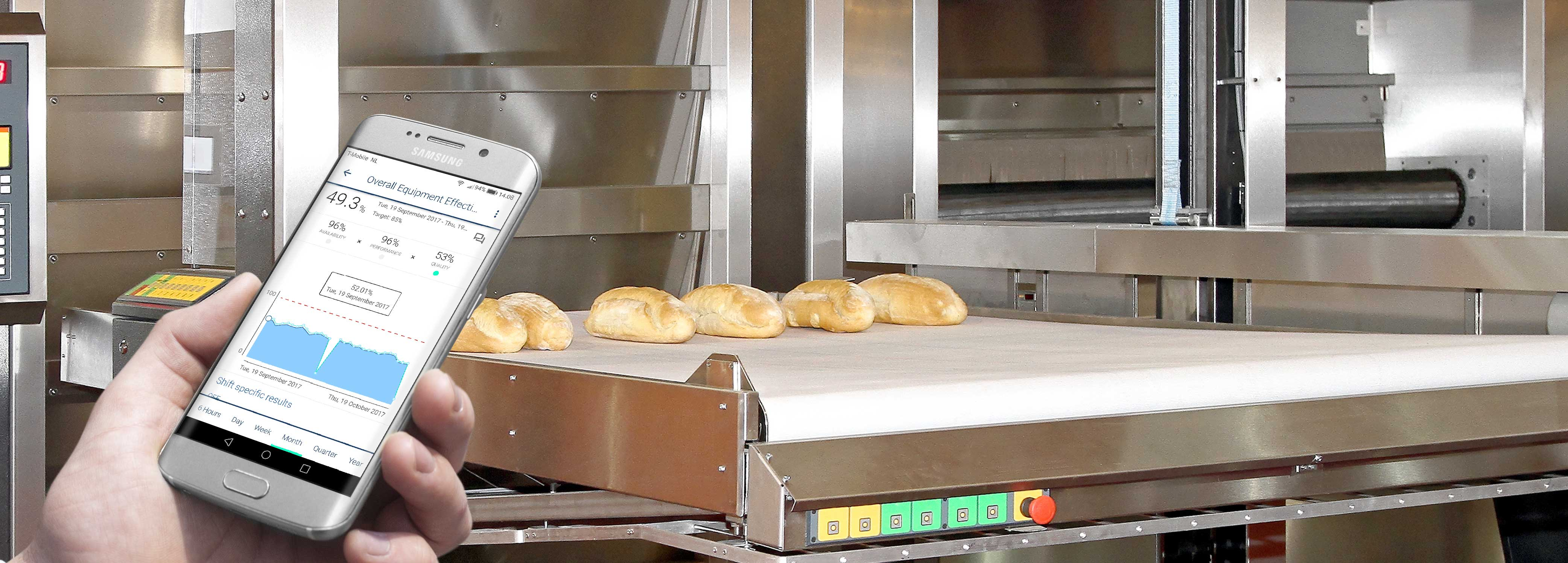 Bakery lines are more efficient when monitoring OEE with innius